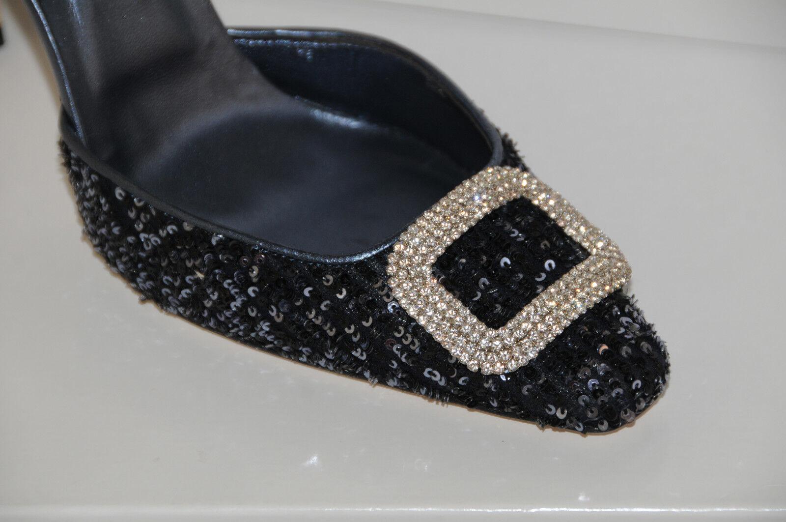 NUOVO MANOLO BLOHNIK VISPONO SLINGS JEWEled SEQUINS  scarpe 41 11 impiccaisi  n ° 1 online