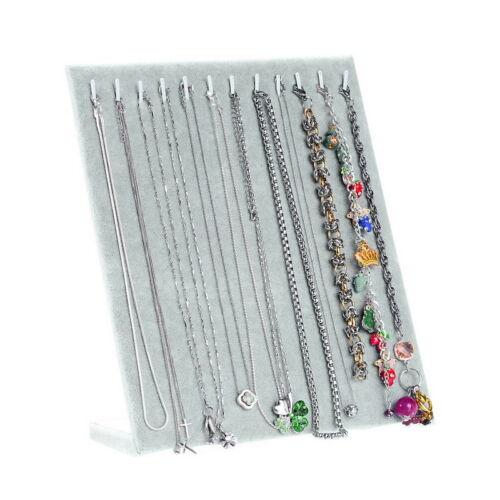 1PC Grey Velvet Necklace Bracelet Chain Retail Jewelry Display Holder Stand