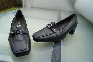 ARA-Damen-Comfort-Schuh-Slipper-Pumps-Leder-marine-Einlagen-Gr-6-H-39-5-NEU-3