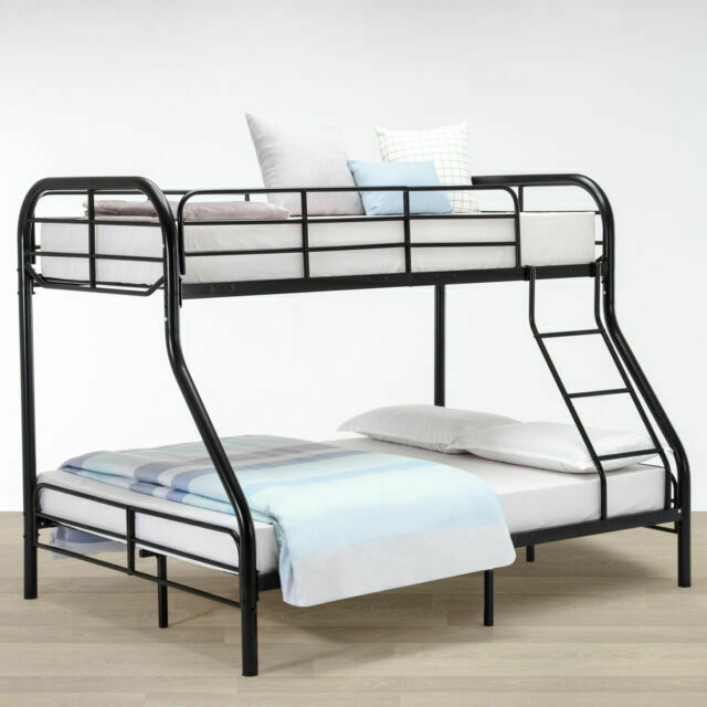 Dorel Twin Over Full Silver Metal Bunk Bed With Set Of 2 Mattresses Www Macj Com Br