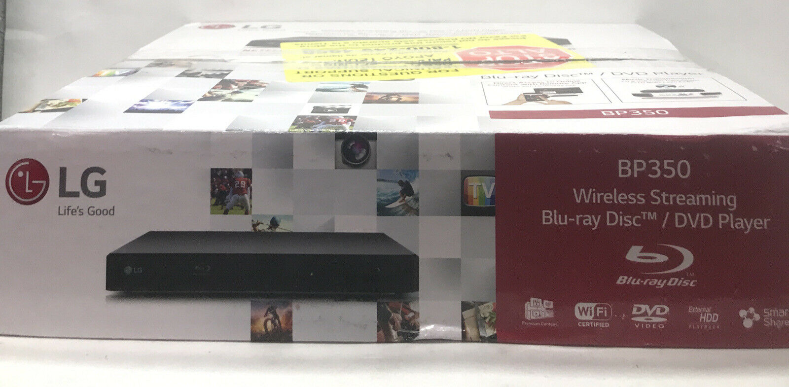 LG Smart 1080p Blu Ray DVD Player w/ Built-In WiFi & Streaming Services | BP350 1080p blu bp350 dvd player ray services smart streaming wifi