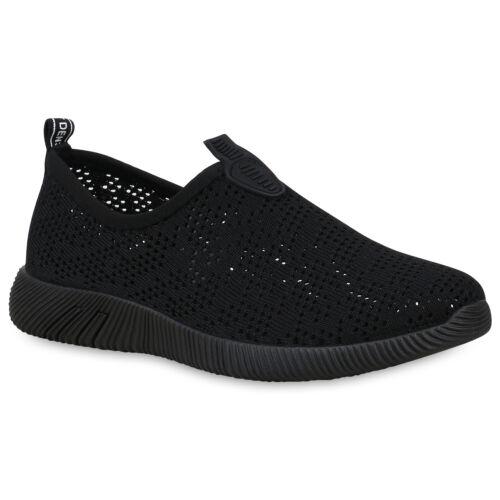 Damen Sportschuhe Slip On Sneaker Strick Cut Out Laufschuhe 830220 Schuhe