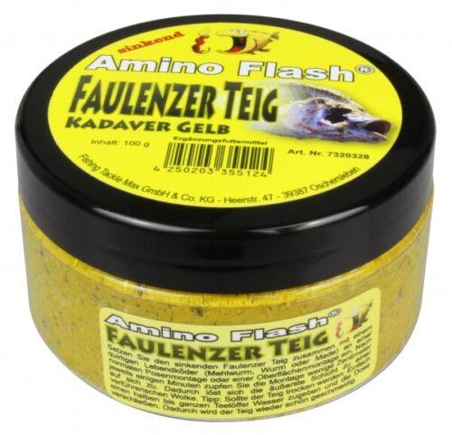 FTM Amino Flash Faulenzer Teig Faulenzerteig 100g Kadaver Gelb 7320328 Forelle