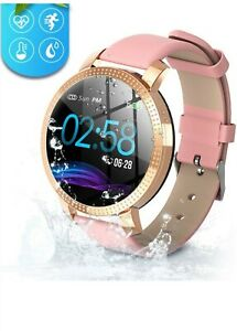 Orologio-di-fitness-per-le-donne-Fitness-Tracker-Touch-Screen-Smartwatch-IP68-IMPERMEABILE