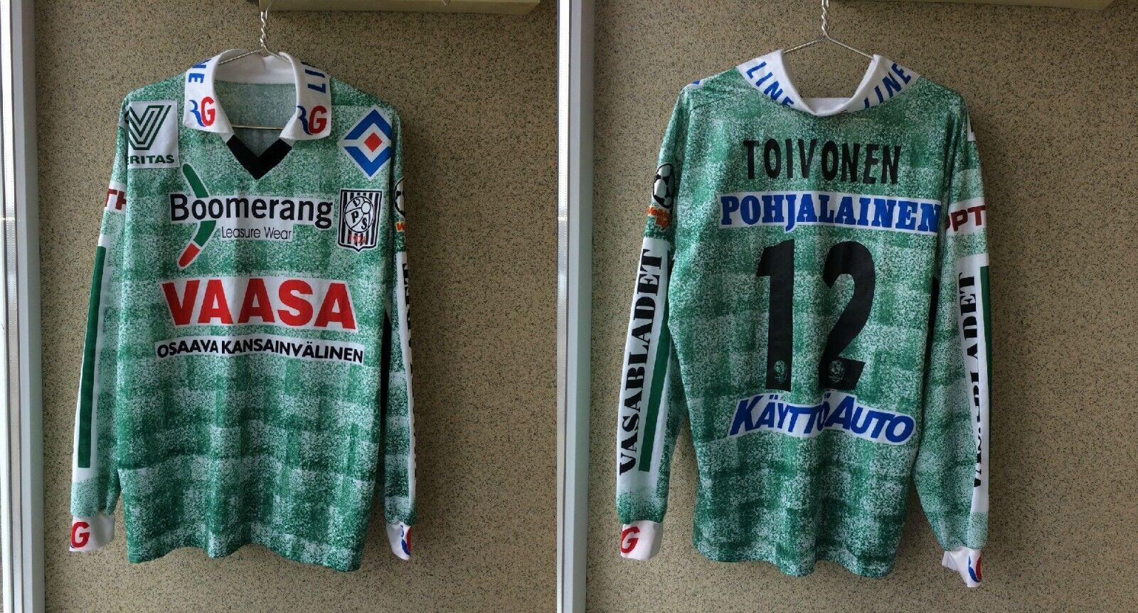 Vaasan Palloseura Camisa de fútbol Finlandia Jersey Match Worn VPS 1924 Toivonen