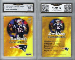 2000-Rookie-Phenoms-Gold-Tom-Brady-Graded-GMA-10-GEM-MINT-Patriots