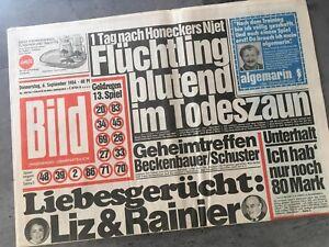 Details Zu Bildzeitung 06091984 September 691984 Geschenk 35 36 37 38 Geburtstag