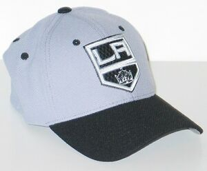 d2472341c2f LOS ANGELES KINGS NHL HOCKEY ATHLETE LIGHT GRAY FLEX FIT FITTED HAT ...