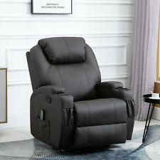 Massage Recliner Vibrating Recliner with Heat Function and Remote Brown