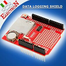 Data Logging Shield ARDUINO Lettore SD Card + Real Time Clock RTC DATALOGGER