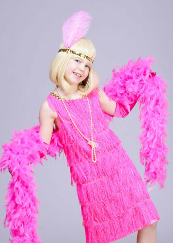 Childrens 1920s Pink Flapper Girl Costume