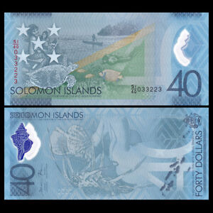 Salomonen / Solomon Islands 40 Dollars, 2018, Polymer, COMM., Banknote, UNC