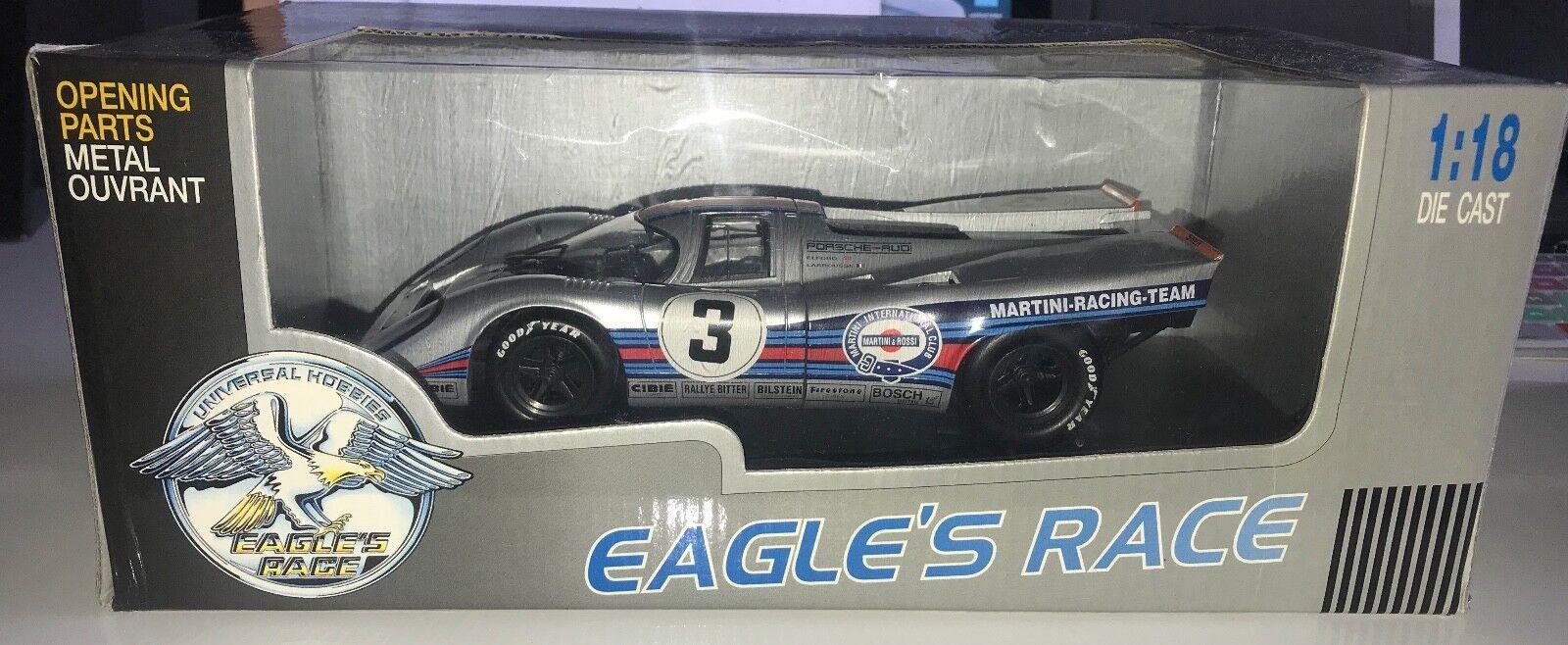 J3905 Eagles Race 1971 Martini Racing Porsche 917K Sebring 12 Hour 1 18 Scale