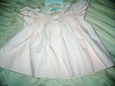 Vintage pink and white eyelet dress  6 months