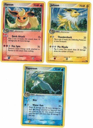 Pokemon NM Aquana Blitza Flamara POP 3 Flamereon Jolteon Vaporeon NM-Mint
