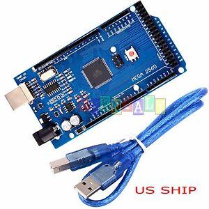USA-SHIP-MEGA-2560-R3-Board-ATmega2560-16AU-CH340G-USB-Cable-for-Arduino