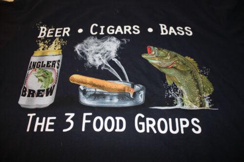 THE THREE FOOD GROUPS XL FISHING T-SHIRT MENS