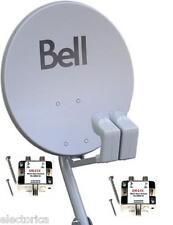 "NEW ORIGINAL 20"" DISH 500 BELL ExpressVu  2 LNB & 2 SW21 SWITCH HD BEV NETWORK"