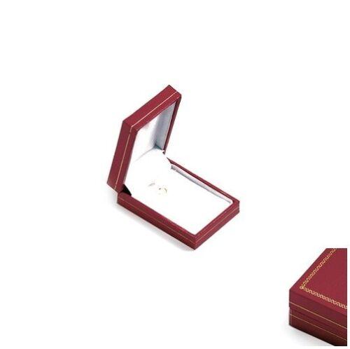 Lot 12 écrins boite cadeau coffret Collier ou Chaine SIMILI CUIR rouge NEUF