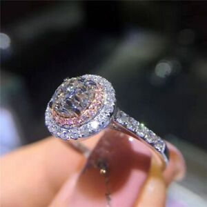 Silber-Ring-925er-Sterlingsilber-Damen-Zirkonia-Verlobungsring-Damenring-Ringe