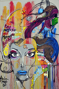 Details About Cool Graffiti Street Art Canvas 58 Contemporary Abstract Pop Art Wall Hanging