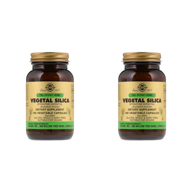 2X SOLGAR VEGETAL SILICA MINERALS KOSHER DIETARY SUPPLEMENT DAILY BODY HEALTH