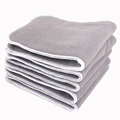 5 Reusable Washable Cloth Diaper Nappy Insert Liner Bamboo 4 Layers