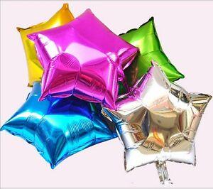10xFive-pointed Star Nitrogen Foil Balloon Holiday Wedding Party Supply Decor Y2