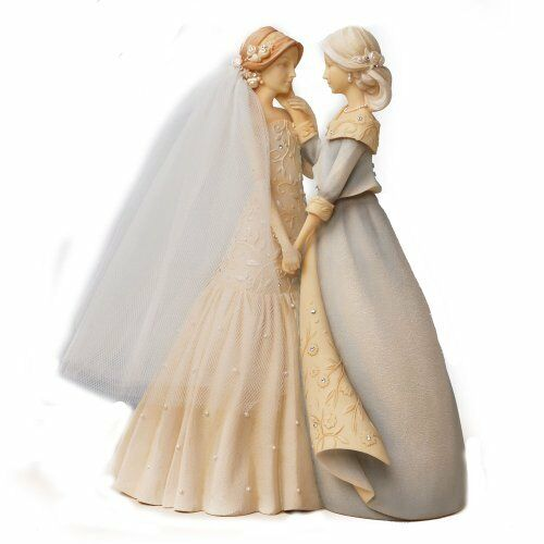 New 9-Inch Free Shipping Enesco Foundations Mother and Bride Figurine