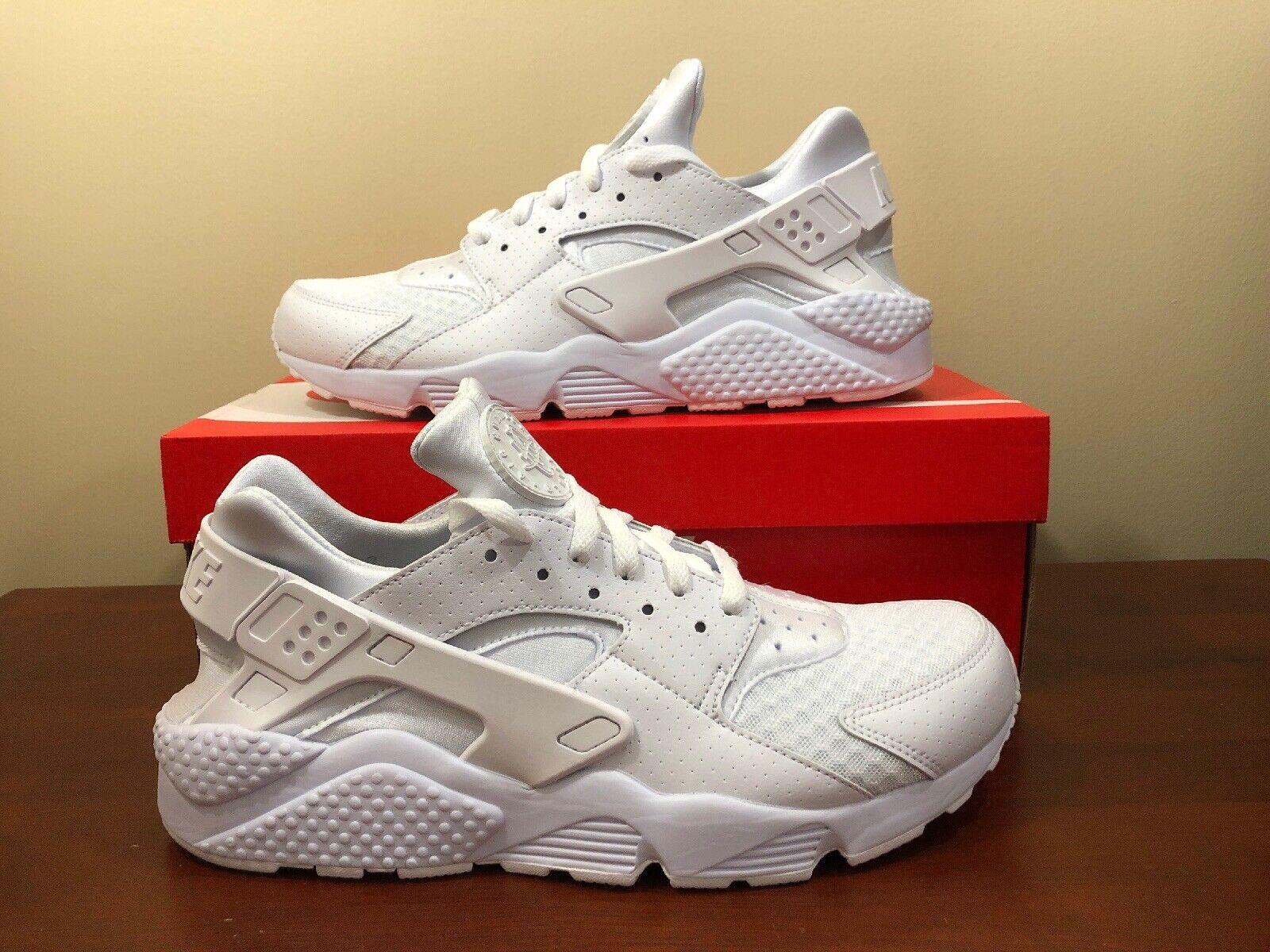 new styles 551fe 4a7d4 Nike Air Air Air Huarache Size 9 Triple White Pure Platinum 318429-111  074fdf