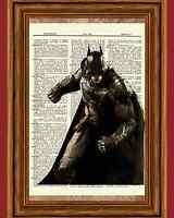 Batman Dictionary Art Print Vintage Book Poster Picture Marvel Comic Hero