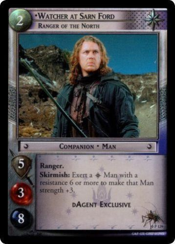 0P129 Watcher At Sarn Ford Ranger Of The North FOIL DAgent Exclusive LotR TCG