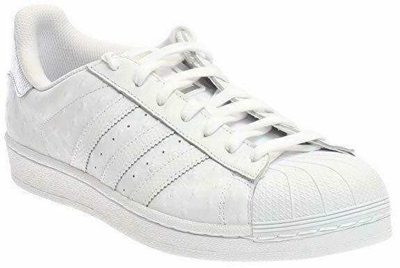 Adidas Originals Men's Superstar shoes Running. color- White   Silver Metallic