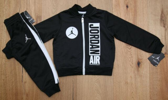 Air Jordan Toddler Boy 2 Piece Jogging Set ~ Black /& White ~ Jumpman ~ Tracksuit