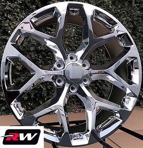 22 Inch Gmc Sierra 1500 Oe Replica Snowflake Wheels Chrome Rims 22