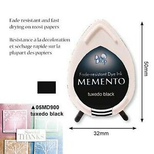 Drop-Stempelkissen-Memento-tuxedo-black-Tinte-Mini-MD900