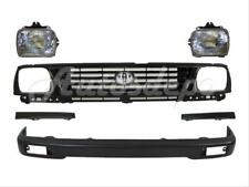 For Toyota 1995 1996 Tacoma 2wd Front Bumper Bar Grille Filler Healight 6 Pc Fits 1996 Toyota Tacoma