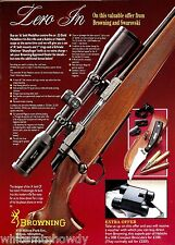 1993 BROWNING A-Bolt Medallion Center-fire Rifle AD British UK Advertising