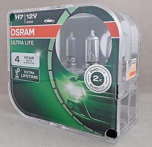 H7 OSRAM Ultra Life Extra Lifetime PX26d 12V 55W Halogen 2st. 64210ULT-HCB XX
