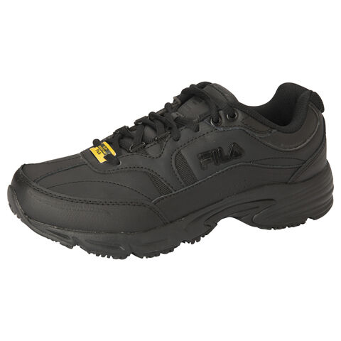 Fila Women/'s Memory Workshift Slip-Resistant Sneaker 5ISG0002-001 All Black Med