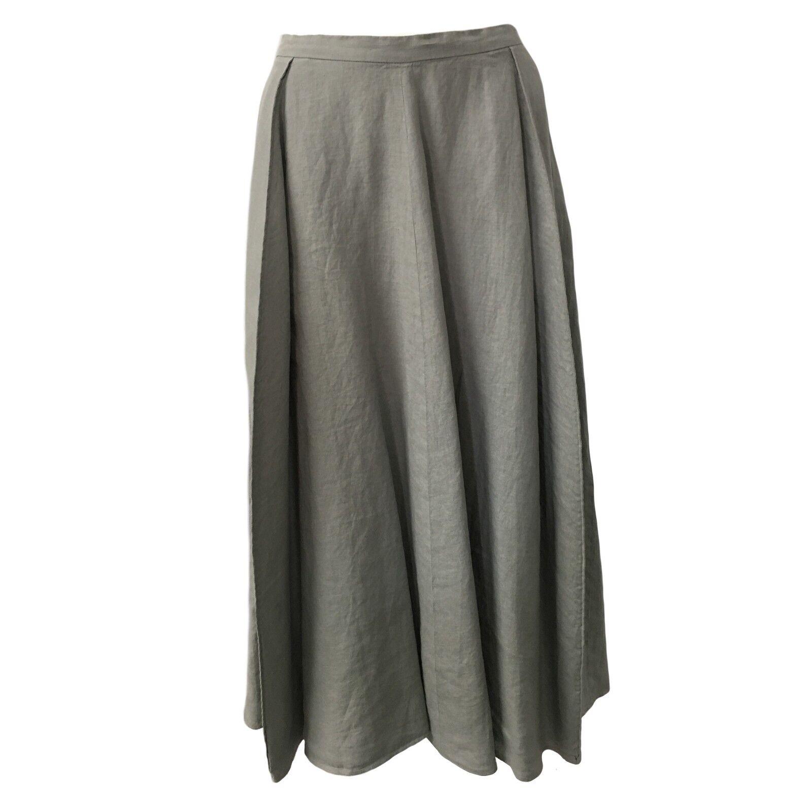 ASPESI kjol kvinna ljus grå Mod h507 c195 100% Linen