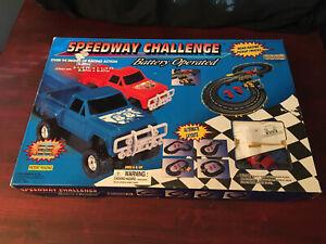 Speedway Challenge Slot Car Set Road Racing Pickup Trucks Partially Sealed Artin