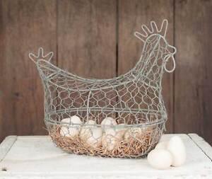 Farmhouse-new-Chicken-wired-Egg-Basket-nice