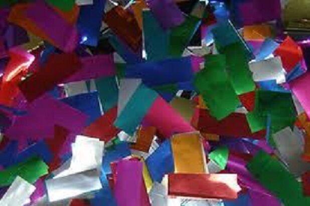 Confetti Multi Farbe Metallic per pound flameproof rectangular Mylar confetti