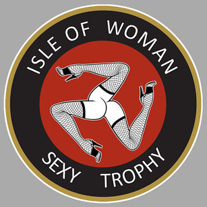 isle of man tourist trophy ile de man humour sexy sticker moto racing 9cm ia094 ebay. Black Bedroom Furniture Sets. Home Design Ideas