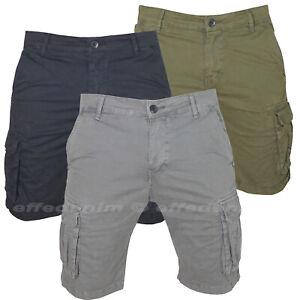 Bermuda-Uomo-Cargo-Pantaloni-corti-con-Tasche-Laterali-pantaloncini-Multitasche