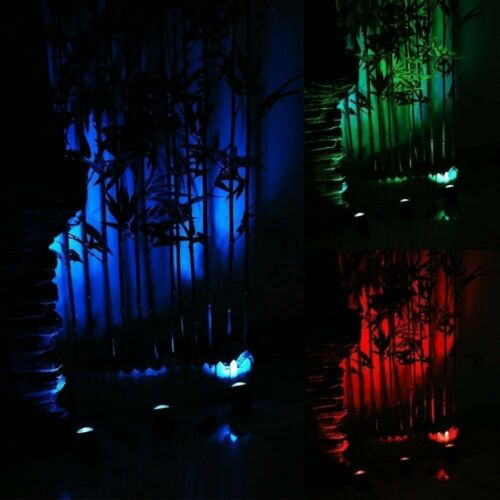 Solar Pond Light RGB Submersible Lamps Underwater Lights Garden Fountain 3 Lamps