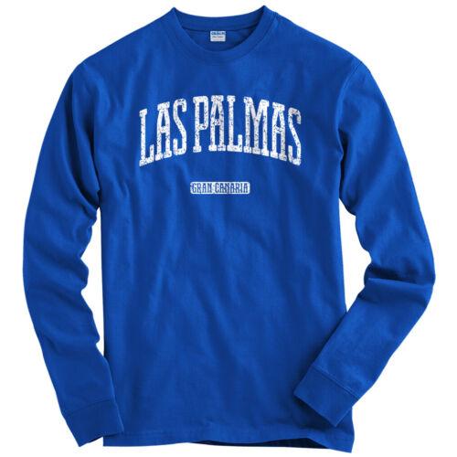 Men Las Palmas Gran Canaria Long Sleeve T-shirt LS Canary Islands ES Youth