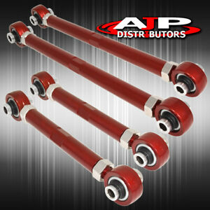 Fit BMW E90//E92 06-12 RWD Suspension Ajustable Rear Camber Kit Red
