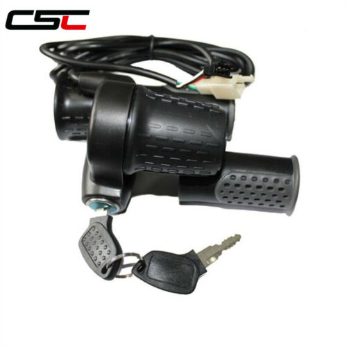 Twist Throttle For Electric Bike 24//36//48//60//72V Half-Bar Ebike Accessories